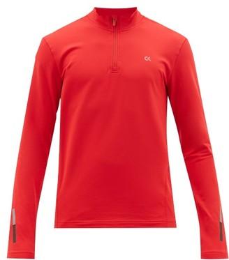 Calvin Klein Quarter-zip Technical-jersey Top - Mens - Red