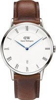 Daniel Wellington 1120DW Dapper St Mawes silver and leather watch