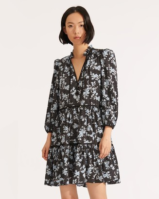 Veronica Beard Hawken Floral Dress