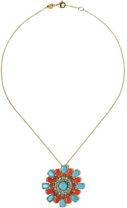 Pasquale Bruni 18kt yellow gold Ghirlanda diamond gemstone pendant necklace
