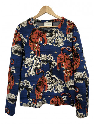 Gucci Blue Cotton Knitwear & Sweatshirts