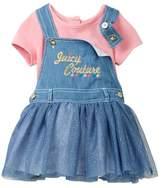 Juicy Couture Denim Jumper & Pointe Knit Top Set (Baby Girls 12-24M)