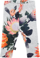 Molo Stefanie Floral Stretch Jersey Leggings, Gray, Size 6-24 Months