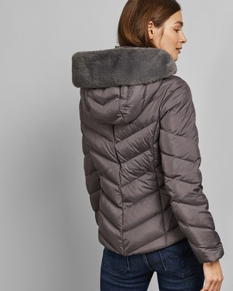 Ted Baker LAIYA Padded jacket with faux fur hood