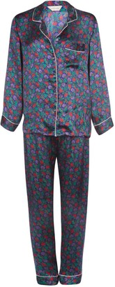 Berry Blue Luxury Silk Pyjama Set