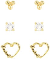 Juicy Couture Cut Out Heart Drop Wishes Earrings