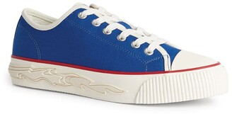 Sandro Flame-Detail Canvas Sneakers