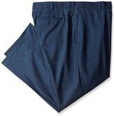 Louis Raphael Men's Big & Tall Modern-Fit Flat-Front Sharkskin Dress Pant