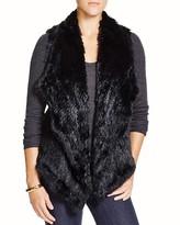 525 America Rabbit Fur Envelope Vest