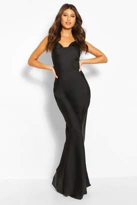 boohoo Cowl Neck Maxi Slip Dress