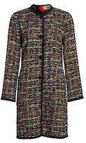 Etro Women's Reversible Tweed & Matelassé Floral Jacket
