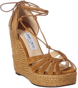 Jimmy Choo Denize 125 Suede Wedge Sandal