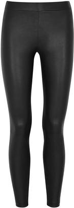 Vince Black leather leggings