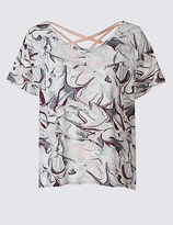 M&S Collection Quick Dry X-Back Printed T-Shirt
