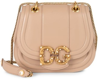 Dolce & Gabbana Amore Leather Saddle Bag