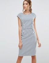 Oasis Stripe Tailored Pencil Dress