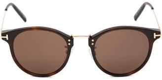 Tom Ford Round Acetate Metal Bridge Sunglasses