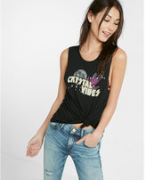 Express one eleven crystal vibes graphic muscle tank