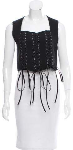 Tome Wool Lace-Up Bustier w/ Tags