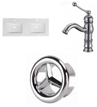 "American Imaginations 1 Hole Ceramic 48"" Double Bathroom Vanity Top"