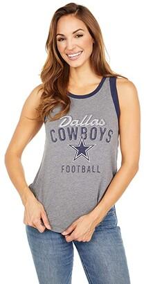 Dallas Cowboys Dallas Cowboys Tiffany Tank (Medium Heather Grey/Navy) Women's Clothing