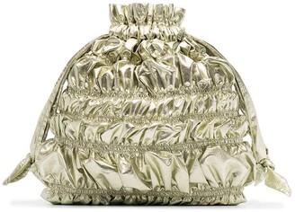 Molly Goddard Nara Bumpy drawstring clutch bag
