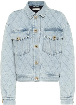 Alessandra Rich Quilted denim jacket