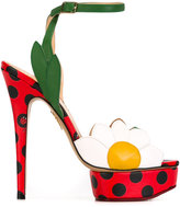 Charlotte Olympia Petal sandals - women - Leather - 38.5