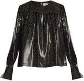 Diane von Furstenberg Polka dot-print silk-blend top