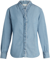 Etoile Isabel Marant Awendy ruffled chambray shirt