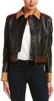 Helmut Lang Contrast Leather Jacket