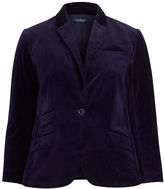 Ralph Lauren Woman Stretch Velvet Blazer