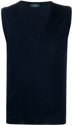 Zanone Knitted Sleeveless Vest