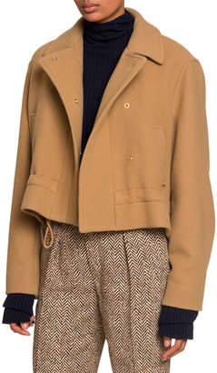 Chloé Snap-Front Jacket with Drawcord
