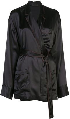 Haider Ackermann Belted Silk Tunic