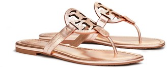 Tory Burch Miller Sandal, Metallic Leather