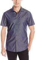 Vince Camuto Men's Slim Fit Short Sleeve Sport Shirt