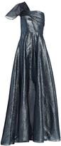Roland Mouret Savannah One-Shoulder Lurex Organza Gown
