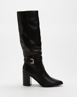 Spurr Women's Black Knee-High Boots - Renver Boots - Size 5 at The Iconic