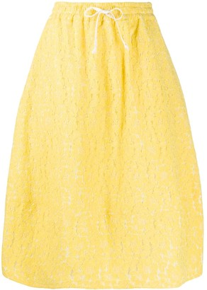 Societe Anonyme floral lace embroidered skirt