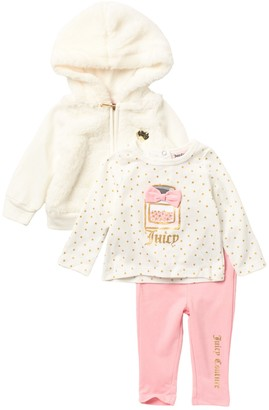 Juicy Couture Hoodie, Top & Leggings Set (Baby Girls 3-9M)