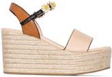 Fabrizio Viti Margarita 70mm floral-appliqued leather wedge sandals