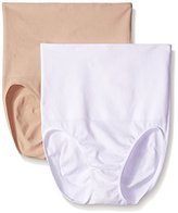 Ellen Tracy Women's Seamless Shape High Waisted Control Brief Shaper Panty