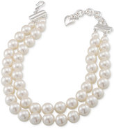 Carolee Silver-Tone Imitation Pearl Adjustable Choker Necklace