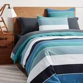 Pottery Barn Teen Kelly Slater Organic Tide Stripe Duvet Cover, Twin/Twin XL, Blue Multi