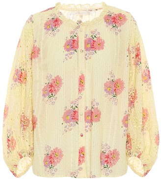 LoveShackFancy Spectra floral cotton blouse