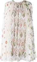 Giambattista Valli multi floral print pleated shell top