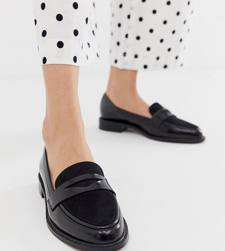 Asos Design DESIGN Mantra loafer flat shoes in black