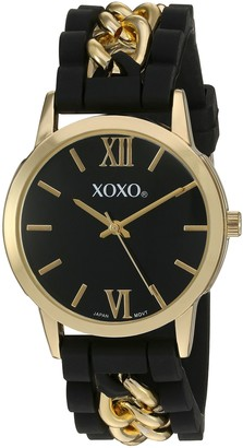 XOXO Women's Quartz Metal and Rubber Watch
