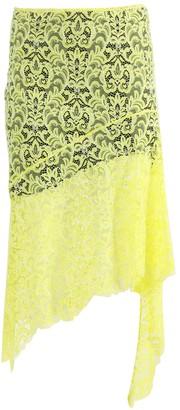 Marques Almeida Yellow Asymmetric Lace Skirt